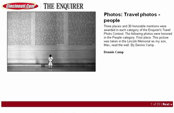 Cincinnati Enquirer 2006 Travel Photo Contest People Award Winner